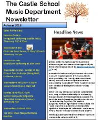 Music Department Newsletter